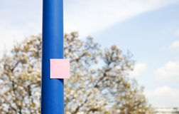 Post it on pole - RAW format Stock Photo