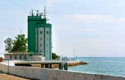 Post RAID service of the Baltic naval base, Pilot tower Baltiysk royalty free stock photo