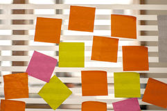 Post it reminders in office Royalty Free Stock Photography