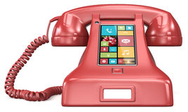 Post retro telephone. Royalty Free Stock Image