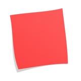 Post-it rosso Fotografia Stock Libera da Diritti