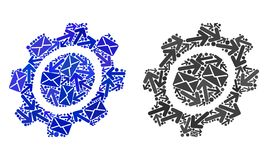 Post Routes Collage Gear Icons vector illustration