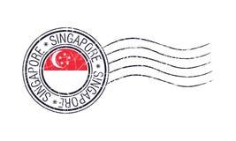 Post- rubber stämpel för Singapore stadsgrunge vektor illustrationer