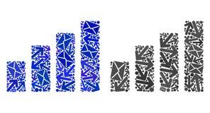Post sänder mosaiska symboler för stångdiagram royaltyfri illustrationer