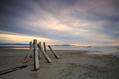 Post`s at the Great Salt Lake. Royalty Free Stock Images