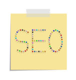 Post seo Royalty Free Stock Image