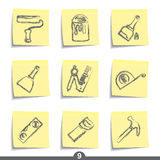Post it series - diy and decorating Royalty Free Stock Photo