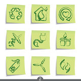Post it series - ecology Royalty Free Stock Photography