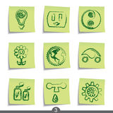 Post it series - ecology Royalty Free Stock Photos