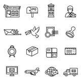 Post service icon set. Stock Photo