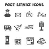 Post service icons. Mono vector symbols Royalty Free Stock Photos