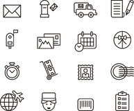 Post Service icons Stock Photo