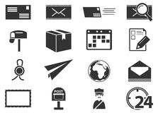 Post service icons set Royalty Free Stock Photo