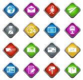 Post service icons set Stock Photo