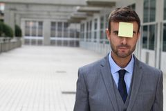 Post it showing an important reminder Stock Image