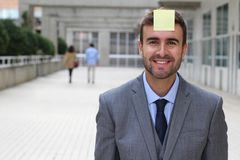 Post it showing an important reminder.  Stock Photography
