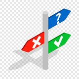 Post with signs isometric icon Royalty Free Stock Photos