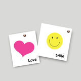 Post it smile and love Royalty Free Stock Photo