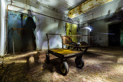 Post Soviet abandoned cold war bomb shelter. All pictures made in low light conditions without any light from outside. Only light was two portable flashlights royalty free stock photos