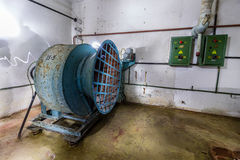 Post Soviet abandoned cold war bomb shelter. Royalty Free Stock Image