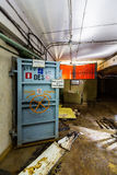 Post Soviet abandoned cold war bomb shelter. All pictures made in low light conditions without any light from outside. Only light was two portable flashlights Royalty Free Stock Photography