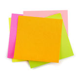 Post-it. Stack of colorful post-it sticky notes isolated on white Stock Photography
