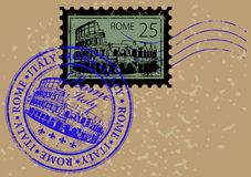 Post stamp Stock Photo
