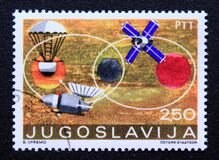 Free Post Stamp Printed In Yugoslavia Space Exploration, 1971 Royalty Free Stock Photos - 182853958