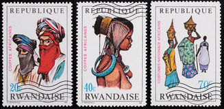 Post stamp. Rwanda Royalty Free Stock Images