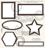 Post stamp set,  illustration Stock Images