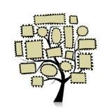 Post stamp tree for your design. Vector illustration royalty free illustration