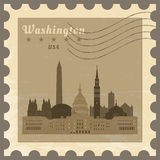Post stamp Washington. Royalty Free Stock Photos