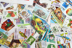 Post stamps Stock Photo