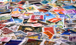 Post Stamps. All kinds of post stamps Royalty Free Stock Photo