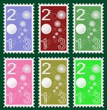 Post Stamps. 2013 post stamps vector graphic. with six colorful item royalty free illustration