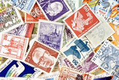Post Stamps. All kinds of post stamps Stock Photography