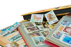 Post stamps albums Royalty Free Stock Photos