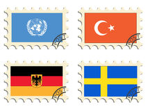 The post stamps of the countries Stock Image