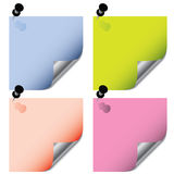Post it stickers Royalty Free Stock Photos