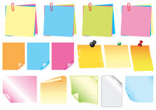 Post-it and stickers Stock Photos