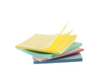 Post-it sticky notes composition Royalty Free Stock Images