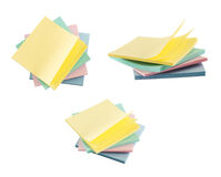 Post-it sticky notes composition Stock Photography
