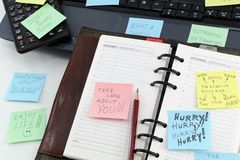 Post it about stress Stock Images