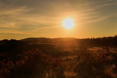Post Sunrise stock photo