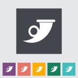 Post symbol single flat icon. Royalty Free Stock Image