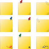 Post it templates Royalty Free Stock Photo