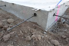 Post Tensioned Slab. Post Tensioned Concrete Slab, Residential Royalty Free Stock Image