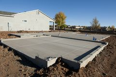 Post Tensioned Slab. Post Tensioned Concrete Slab, Residential Stock Image