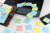 Post it about time Stock Photography