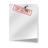 Post-it with top secret on it Royalty Free Stock Images